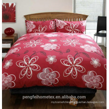 Printed polyester microfiber fabric for bedding sheet with great quality