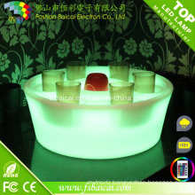 Wholesale Plastic Rechargeable RGB LED Small Ice Bucket