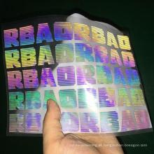vinil reflexivo do highvisibility do arco-íris para a transferência térmica