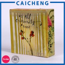 Boîte faite sur commande d'emballage de cadeau de couleur de type de livre pour des ornements