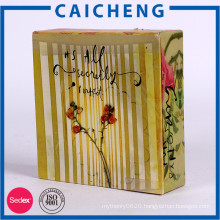 Custom book type color gift packaging box for ornaments