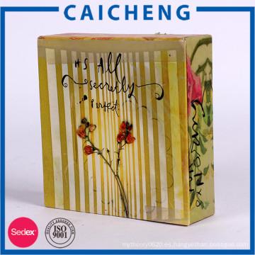 Caja de empaquetado del regalo del color del tipo de libro de encargo para los ornamentos
