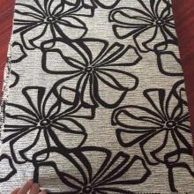 Black Flock Design One El tejido de algodón
