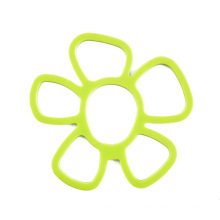 Hot Sale Flower Shape mat  Insulation Tableware Coasters Kitchen Green Silicon Table Mat