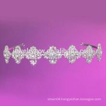 Central pearl bead with flower look Headband Hairband