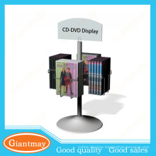 promotion hanging DVDs rotating tabletop display