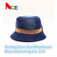 2016 New Fashion Blue Jean Plain Bucket Hat for Wholesale (ACEK0015)