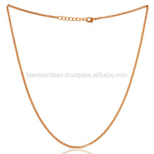 Yellow Gold Plated & 16 Inch Brass Chain Jewelry Available at Payable Price