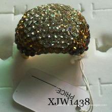Bague en cristal plaqué or (XJW1438)