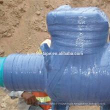Fita adesiva envolvente elástica para tubos anticorrosivos Visco usando tubulação subterrânea
