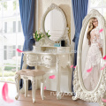 Factory Folding Mirror Vanity Set Makeup Table Dresser