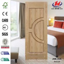 JHK-014 Best Quality France Style Double Moulded Veneer Oak Unequal Double Door Panel