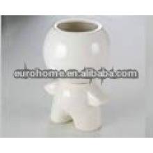Personalizado porcelana figurilla cepillo de pote-162