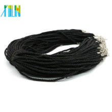 Good Quality Adjustable Twist Silk Cord Necklace for Pendants Making 100pcs/pack, ZYN0008