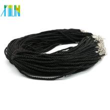 Boa Qualidade Ajustável Torção Colar De Cordão De Seda para Pingentes Fazendo 100 unidades / pacote, ZYN0008