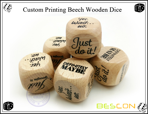 Custom Printing Beech Wooden Dice