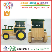 Top Quality Handicraft Green Color Baby Toy Car with Strings