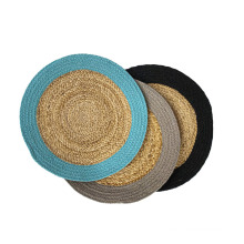 Factory Modern Jute & Cotton Washable Braided Placemats For Dining Table Heat Resistant Tablemats
