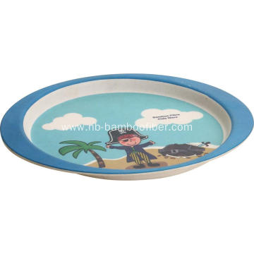 Bamboo fiber little plate with pictures