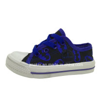 Lips Printing Children Canvas Shoe Sneaker (5122-S&B)