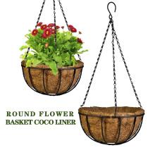 Modern design durable natural coconut liner wall hanging flower baskets flower pot plant pot