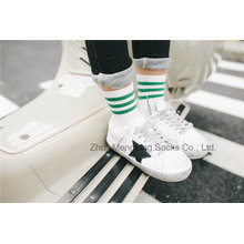 Calcetines de algodón de moda chica Litttle diseños de rayas