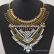 Rétro classique unique vogue collier en métal collier nommé personnalisé femmes