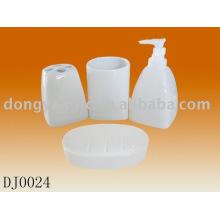 customized logo ceramic bathroom accessories sets , bathroom accessory sets ceramic