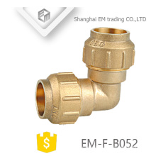 EM-F-B052 Spain PE fitting with brass o-ring compression equal elbow pipe fitting