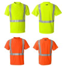 running leisure hi viz shirt logo cutome