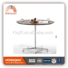 (MFC) T-Y49-1 table basse moderne en verre d'acier inoxydable