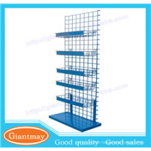 wire mesh boutique floor standing display racks and stands with basket