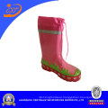 Girls Tiger Print Pink Lace up Rain Boots