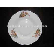 2015 novos produtos 8 polegadas de cerâmica cortar a placa de sopa de porcelana borda