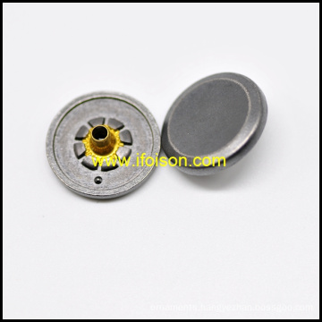Snap Button with Rim for Garment
