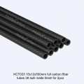 5x3x1000mm 3K Twill / Plain Roll Wrapped Carbon Fiber Tubes