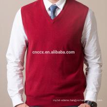 PK16B8182 mens cashmere v neck vest