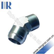 45 Elbow Jic mâle / NPT mâle connecteur de tube adaptateur hydraulique (1JN4)