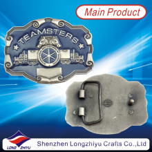 Forme el esmalte de encargo realzó las hebillas de correa occidentales del caballo del logotipo (LZY201300001)