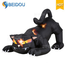Inflable de Halloween esqueleto de Halloween inflables decoraciones gato negro