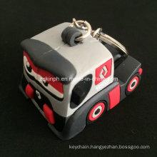 Custom High Quality PVC 3D Cute Truck Keyring for Promotion