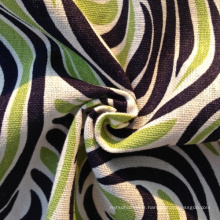 Tissu imprimé à rayures en lin (QF13-0201)