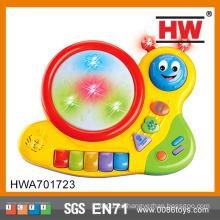 Funcionamiento de la batería Cartoon Worm Drum Play Toy Kid