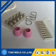 Ensembles de consommables de torchère à coupe plasma à haute qualité réglés pour AG60 SG55