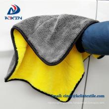 Super soft 40*60cm microfiber coral fleece plush car polish cleaning cloth