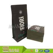 Sacs faits sur commande d'emballage de grain de café de fond de Matt de Matt de matériaux faits sur commande de marque de BOPP avec l'entaille de larme