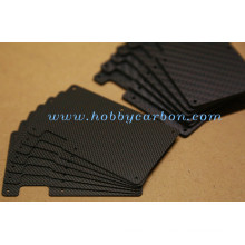 Carteira de cartão de bloqueio RFID carteira fina de fibra de carbono
