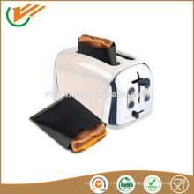 Hohe tepreture Widerstand PTFE braune toasty Tasche
