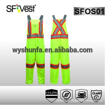 Reflektierende Coverall Bau Arbeitskleidung Overalls hi vis Arbeitskleidung Sicherheit Kleidung für Mann CSA Z96-09