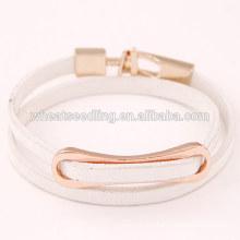 Nouveaux produits mozzers2016 vente en alliage en cuir blanc bracelet en cuir